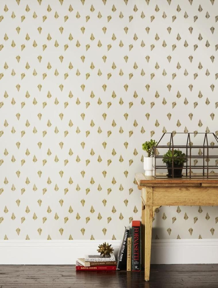 Lisa Congdon for Hygge  West Ferns in Gold Wallpaper 2141 Bedroom