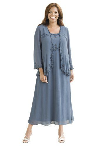 Plus size dresses for weddings in color slate