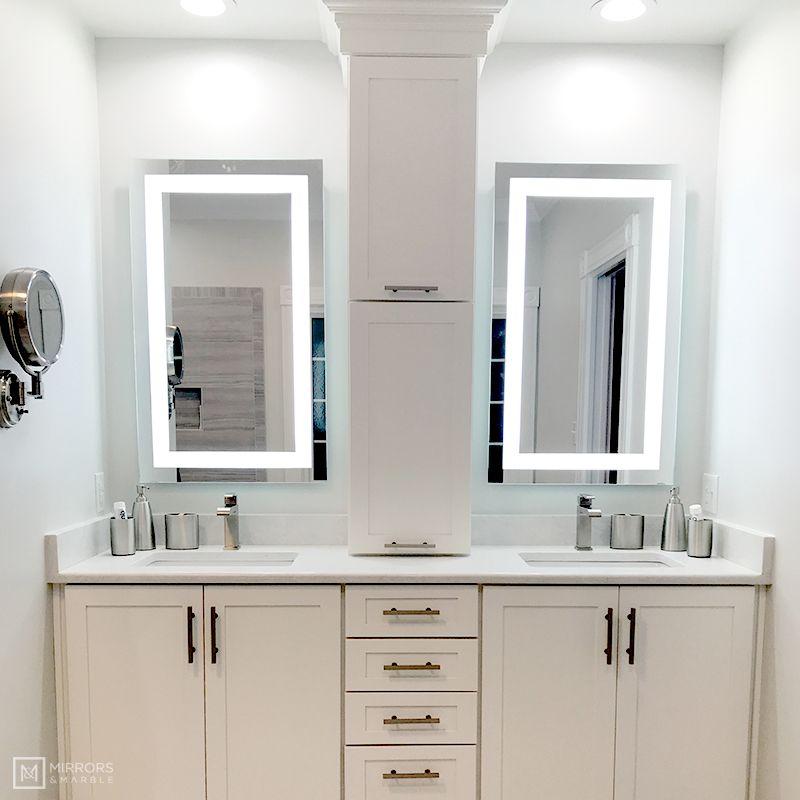 Front Lighted Led Bathroom Vanity Mirror 24 Bathroom Mirror Bathroom Vanity Mirror Bathroom Colors