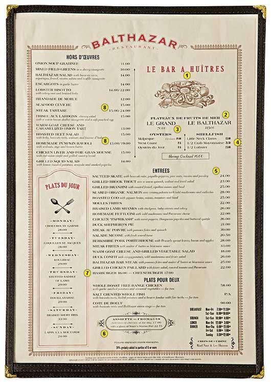 how to design a menu