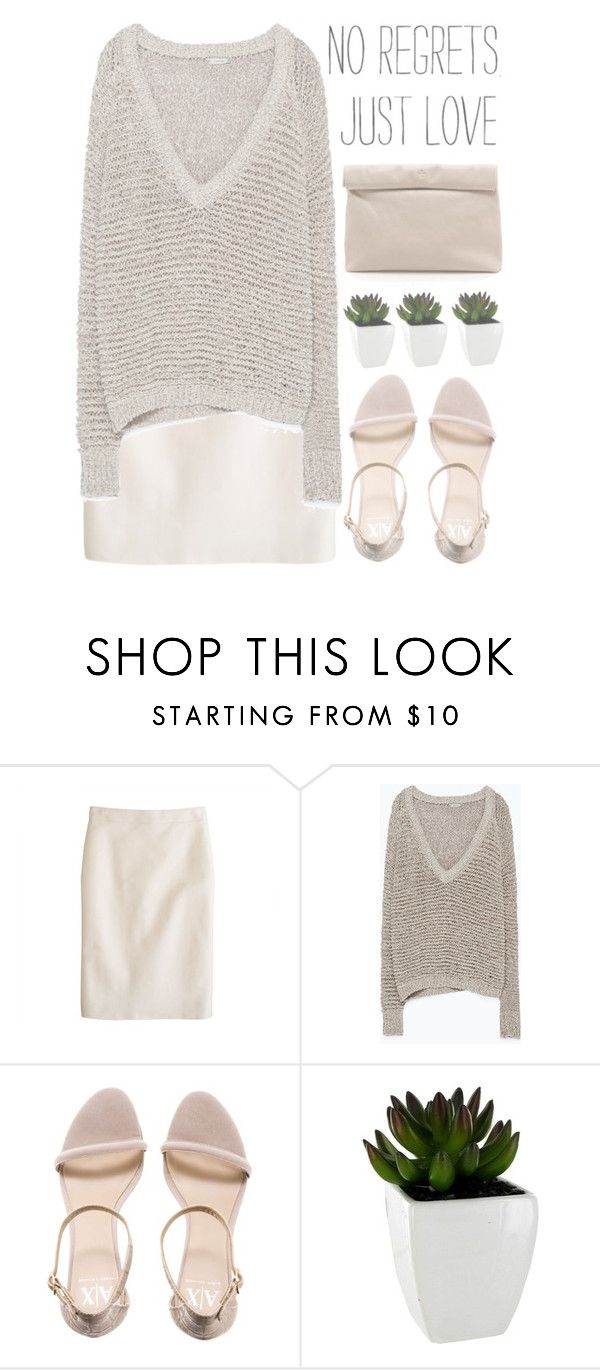 """""""no regrets, just love"""" by evangeline-lily ❤ liked on Polyvore featuring J.Crew, Zara, Armani Exchange, Marie Turnor, jcrew, zara, armani and fall2015"""
