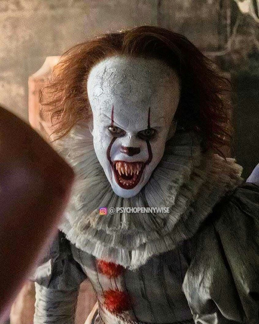 We all float down here è Derry Balon Pennywise Clown Halloween Steven HORROR