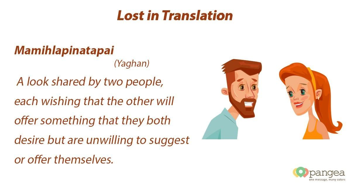 Lost In Translation Yaghan Unique Word Mamihlapinatapai A