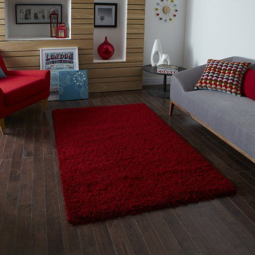 17 Stories Rondions Red Area Rug has a beautiful red colour and a plain shaggy style. Featuring a 5 cm shaggy pile, this area rug offers a super soft underfoot feel. Machine made using 100% polypropylene, this is durable and sturdy. This Rondions Red Rug is recommended to be used with a non-skip backing to avoid untoward slips and falls. As it is available in various sizes, you can select the perfect one for your home.This area rug can be placed in the living room, bedroom, foyer and bathroom Ru