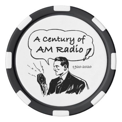 A Century of AM Radio Poker Chip Set | Zazzle com | retro style