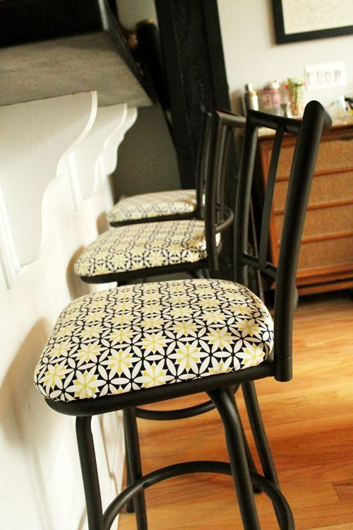 Before And After Reupholstering Bar Stools Reupholster Bar