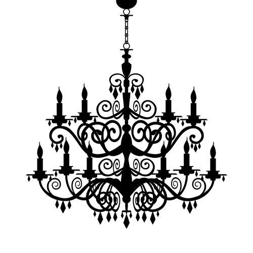 Ornate chandelier vector silhouette set 03 httpsfacebook ornate chandelier vector silhouette set 03 httpsfacebook aloadofball Choice Image