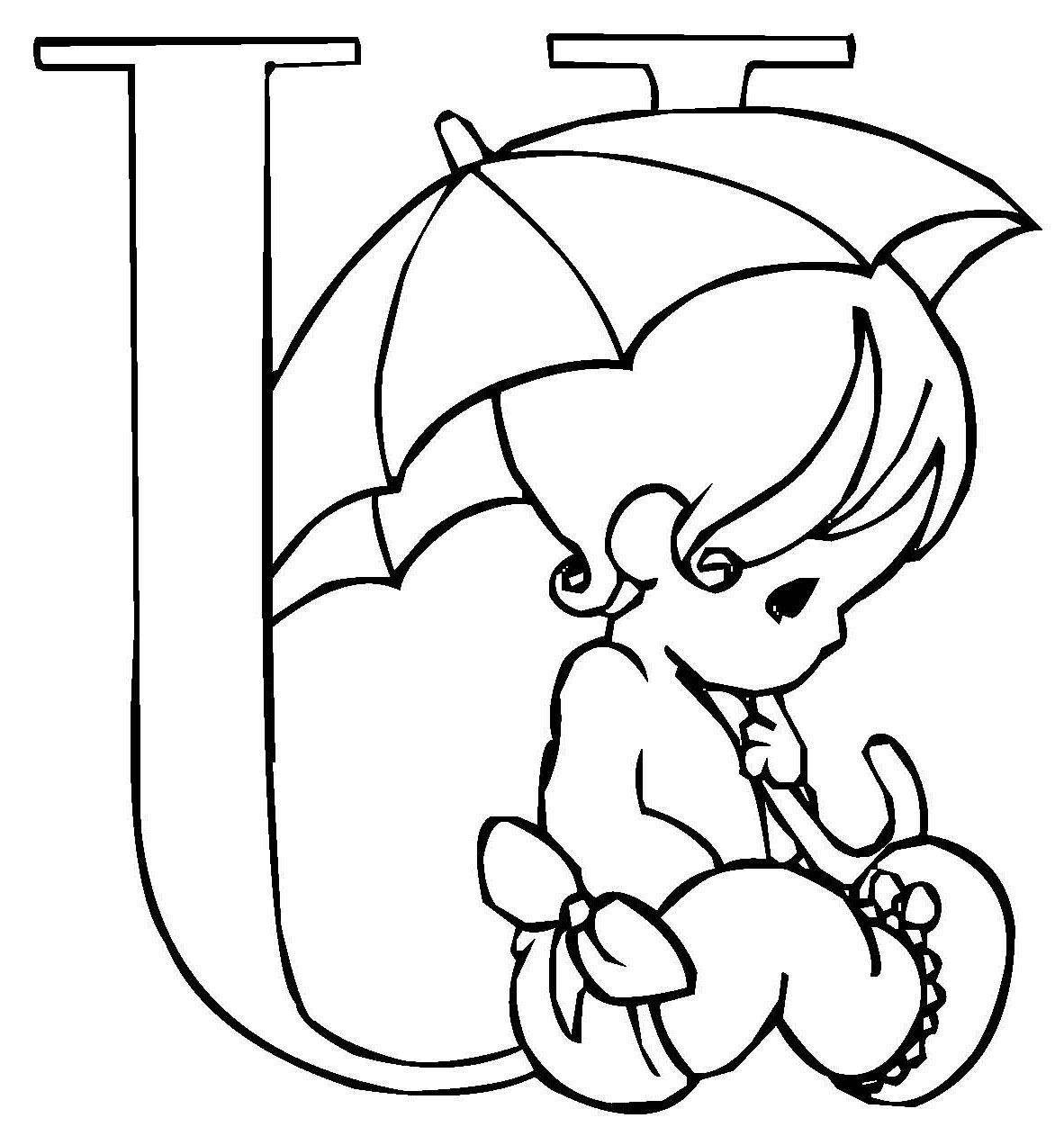 Ausmalbild Buchstaben Lernen Niedliche Schrift U Kostenlos Ausdrucken Alphabet Malvorlagen Ausmalen Ausmalbild