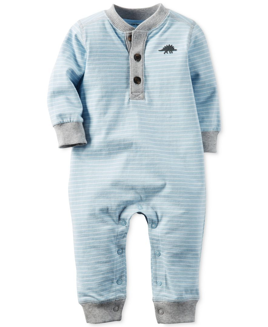 dd6688946238 Carter s Striped Henley Coverall