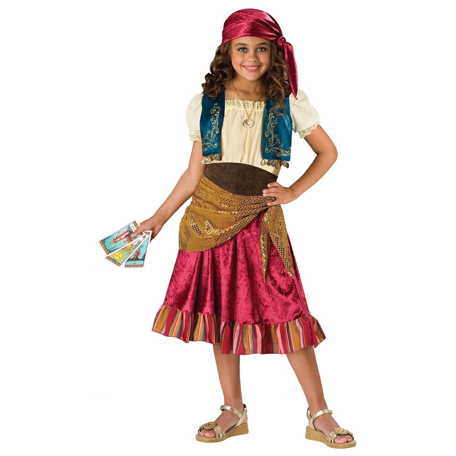 Buy Girls Gypsy Costume for Kids - Childs Gypsy Halloween Costume ...