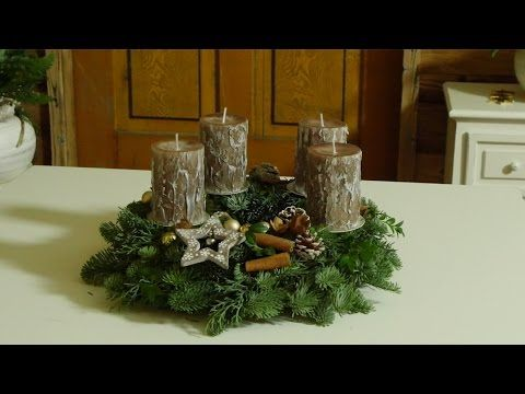 diy h bscher adventskranz mit kugeln zapfen how to deko kitchen youtube fiori. Black Bedroom Furniture Sets. Home Design Ideas