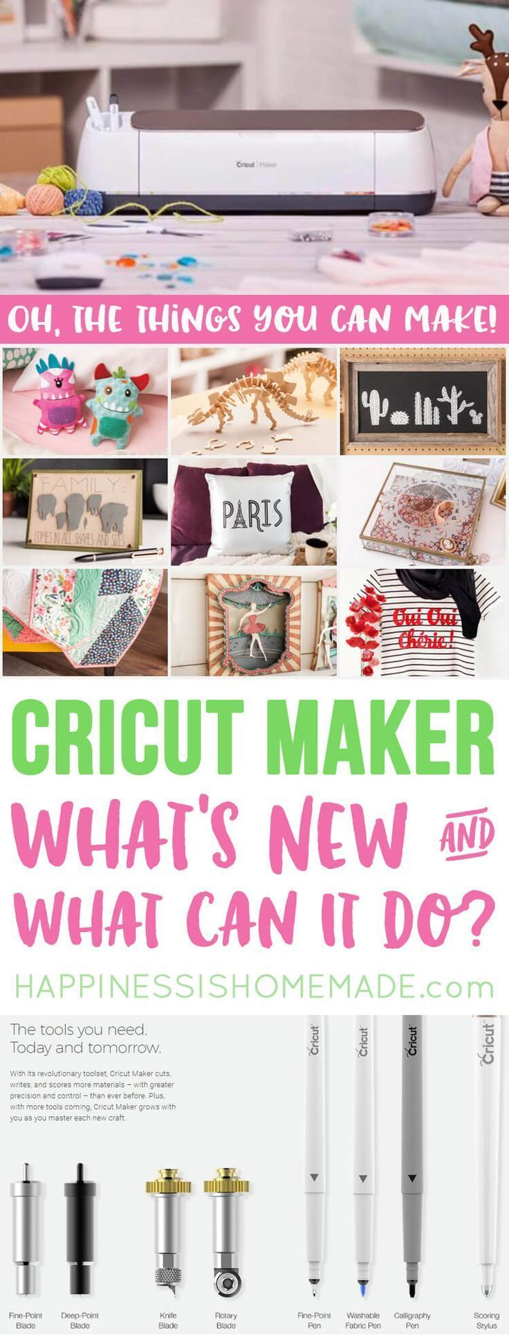 The Cricut Maker is perfect for all of your crafting needs! Quickly & precisely cut everything from thin tissue paper and fabric to leather and balsa wood! #ad @officialcricut #CricutMaker #CricutMade #Cricut