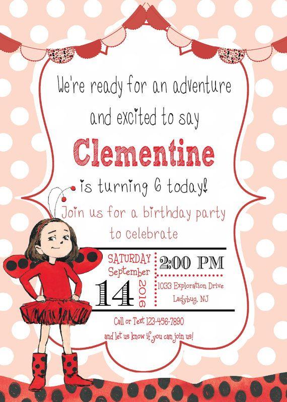 Ladybug Girl Photo Birthday Invitation by Partyperfectdesign