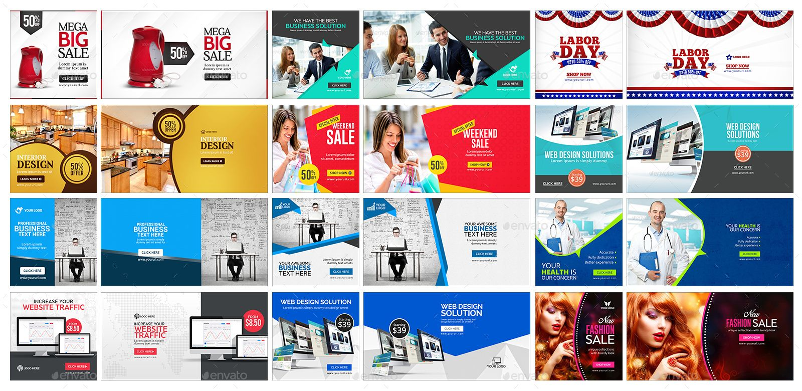Facebook AD Banners Vol-6 - 50 Designs #AD #Banners, #ad