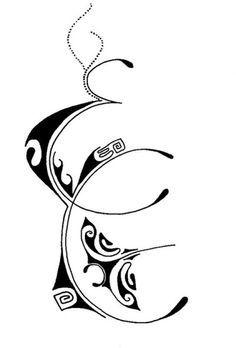 Tatouage Lettre J Polynesien S Tatouage Tatouage Lettre Et