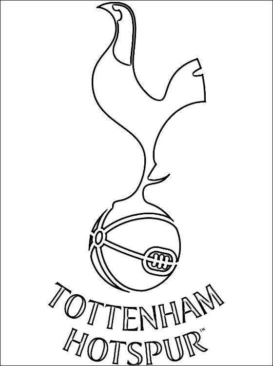 Coloring Page Of Tottenham Hotspur Logo Coloring Pages Tottenham Cake Spurs Cake Tottenham Hotspur