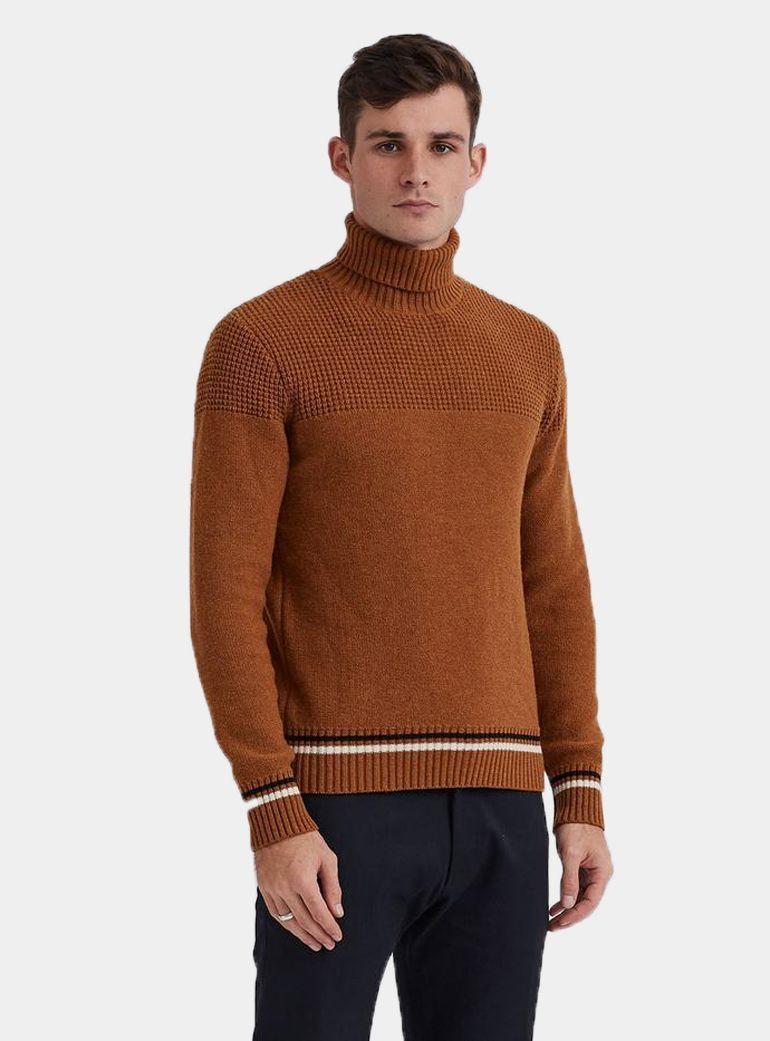 3ffe0b9d972c4a Percival Bronze Yoke Weave Weave, Men Sweater, Weaving, Men's Knits
