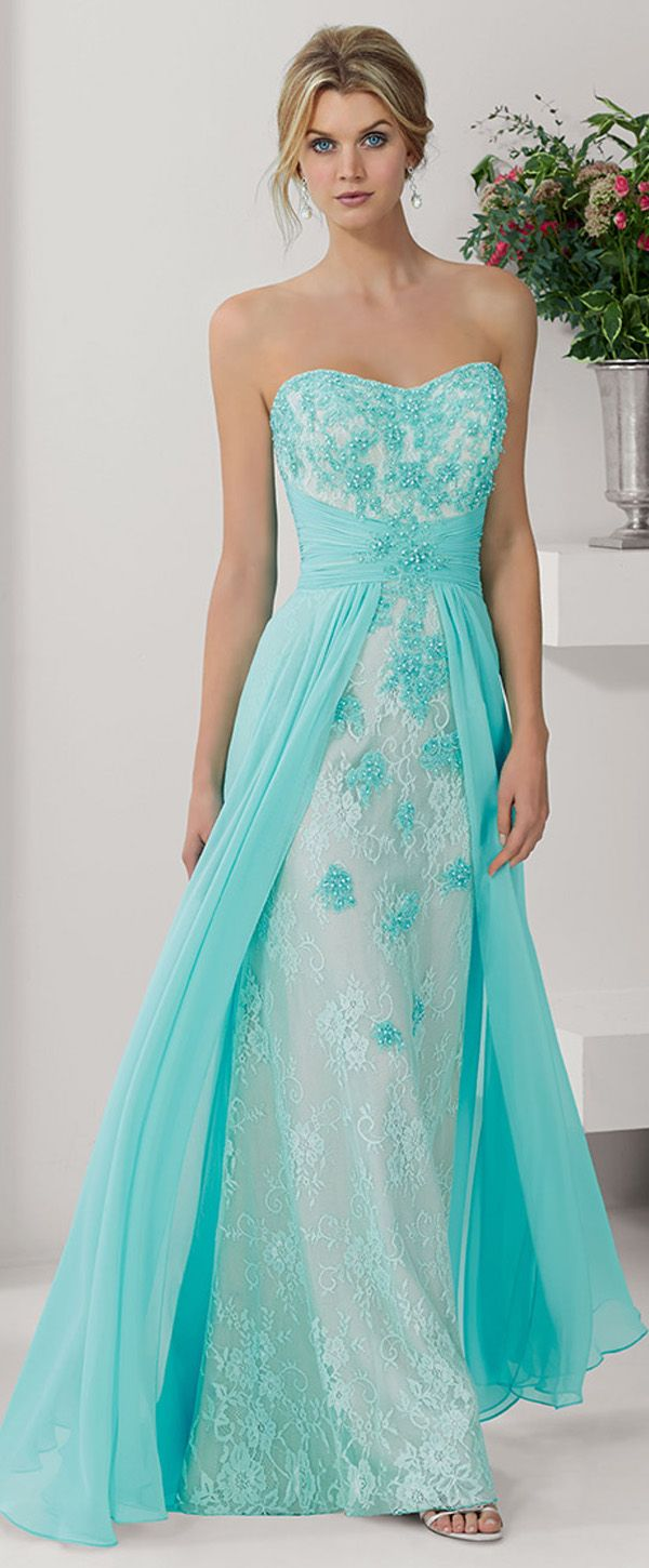 Chic Chiffon & Lace Sweetheart Neckline Floor-length A-line Mother ...