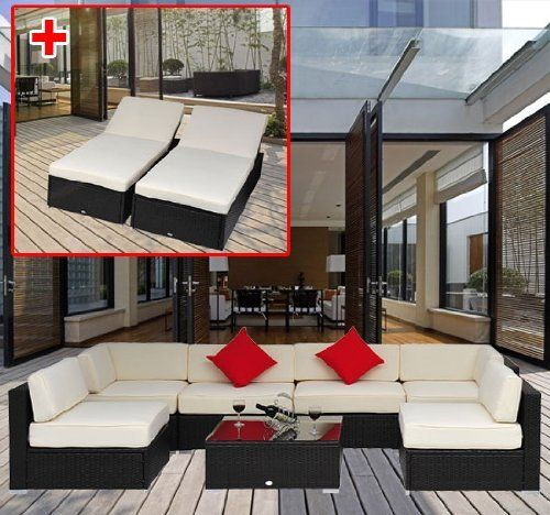 9 Pieces Outdoor Rattan Sofa Wicker Sectional Patio Garden Furniture Lounge Chair By Homcom Http Www Dp Q73ihi Ref