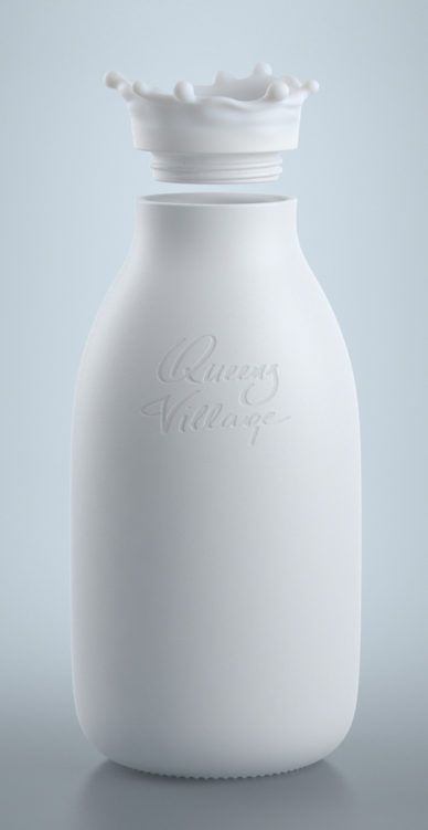 Check this out on leManoosh.com: #Bottles #Matte #Organic #Packaging #Rendering #Smooth #White