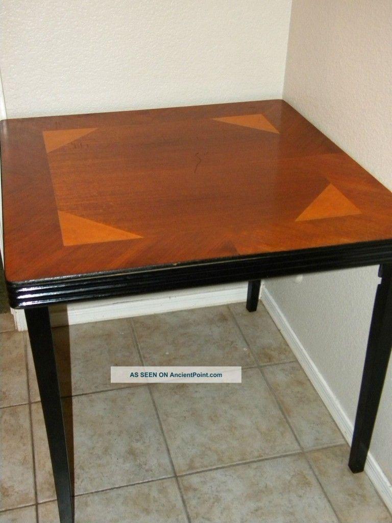 Elegant Folding Bridge Tables Wood