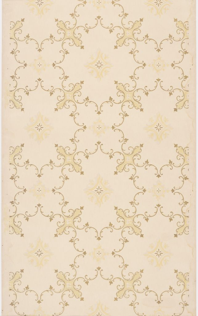 Rococo inspired foliate scrolls are embellished with small trefoil leaves and…