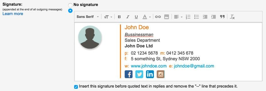 Signature Pasted Into Gmail Being Boss Pinterest Free Email