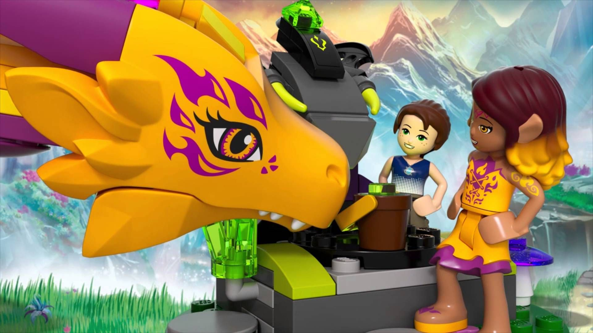 41175 >> Fire Dragon S Lava Cave Lego Elves 41175 Awesome Girl Lego