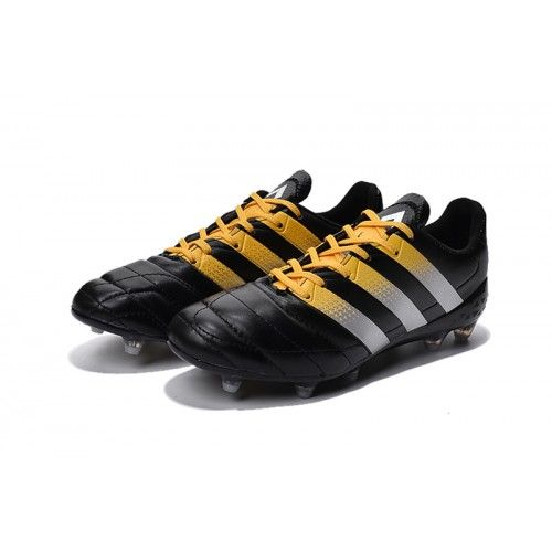 Adidas ACE FG AG hombre  soccer cleats negro blanco Gold Nike