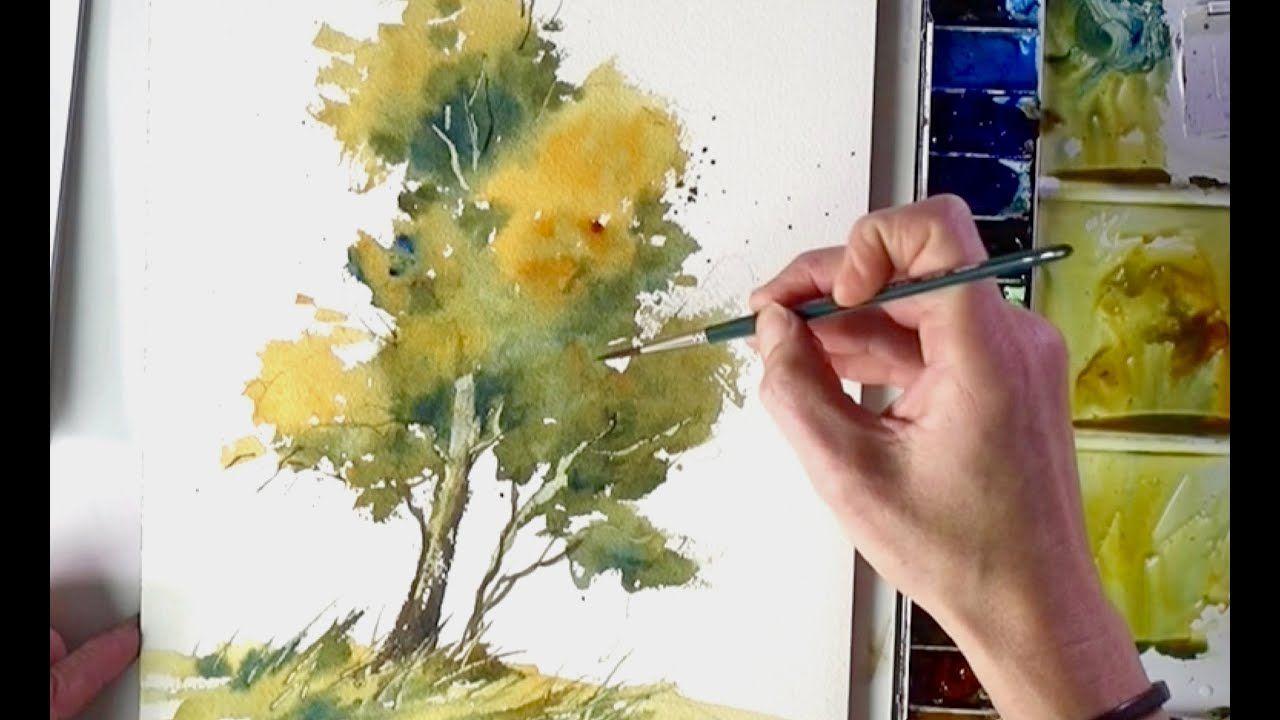 Baum Ganz Einfach Aquarellieren Lernen 2 Youtube Watercolor