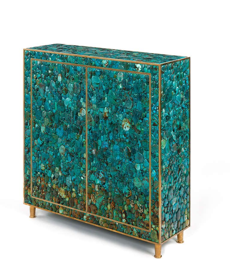 Turquoise Cabinet By Kam Tin