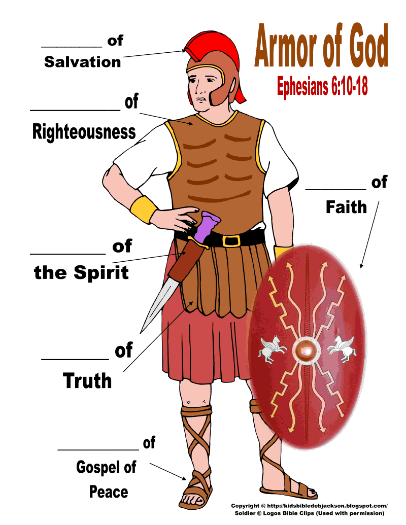 32. Armor of God color soldier to label.pdf Armor of god