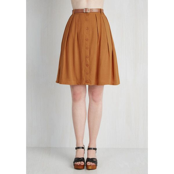 Safari, Scholastic Mid-length A-line Nutmeg Latte Skirt ($50 ...