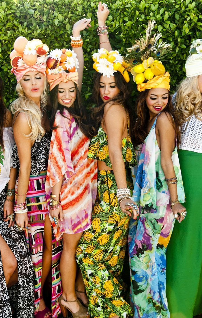 tropical themed costume ideas