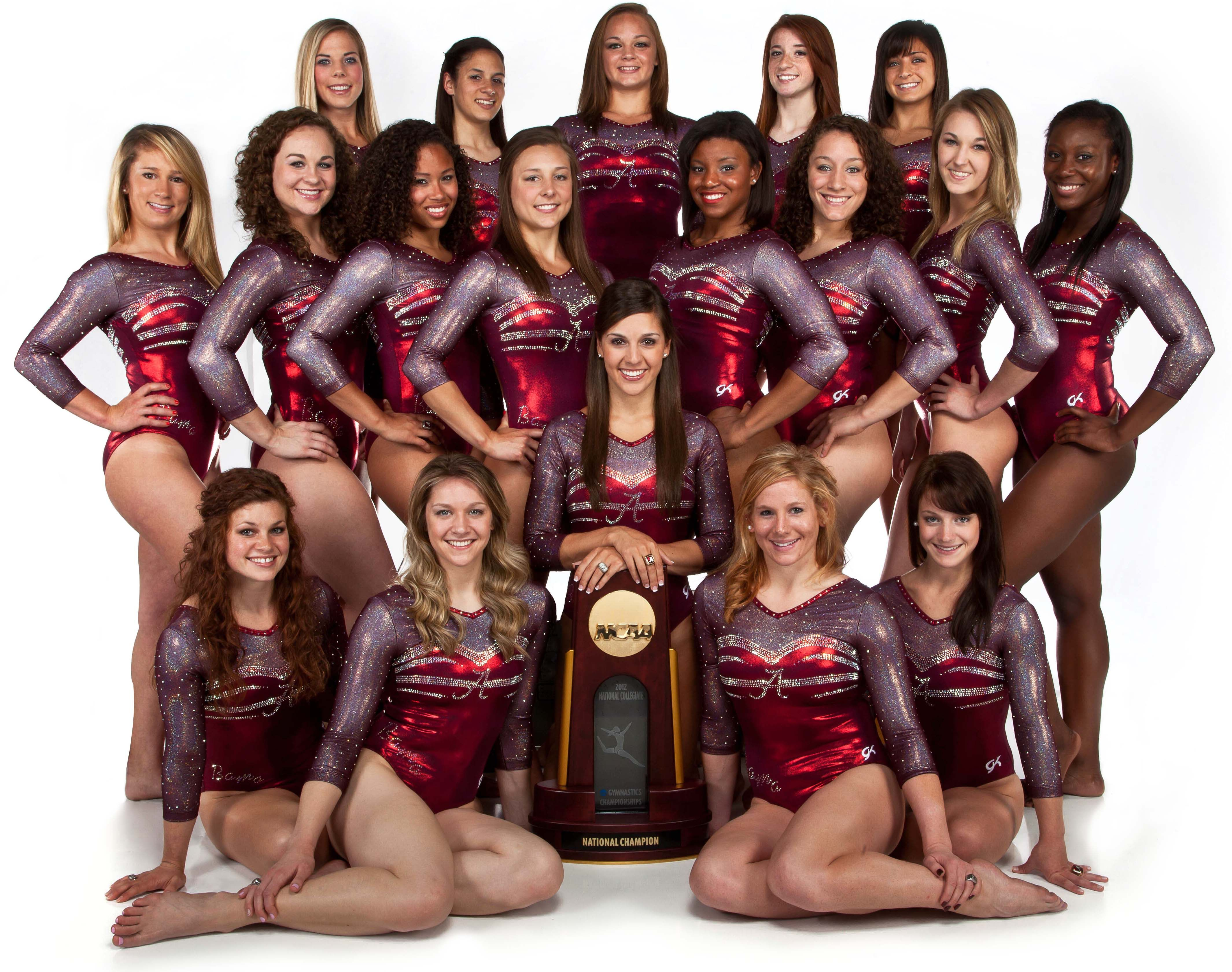Alabama rolls in sixth national title! 2012 NCAA Women's Gymnastics  Champions - Alabama repeats as National Champions when the Crimson Tide  squeezed by ...