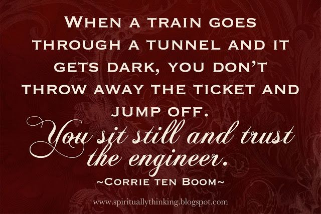 ....and Spiritually Speaking: Trust the Engineer