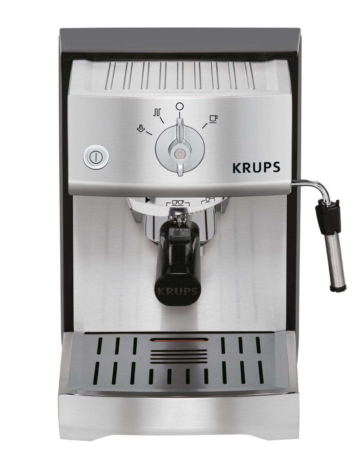 Krups Xp5240 Pump Espresso Machine With Krups Precise Tamp Technology And Stainless Steel Housing Silver To V Best Espresso Machine Espresso Machine Krups