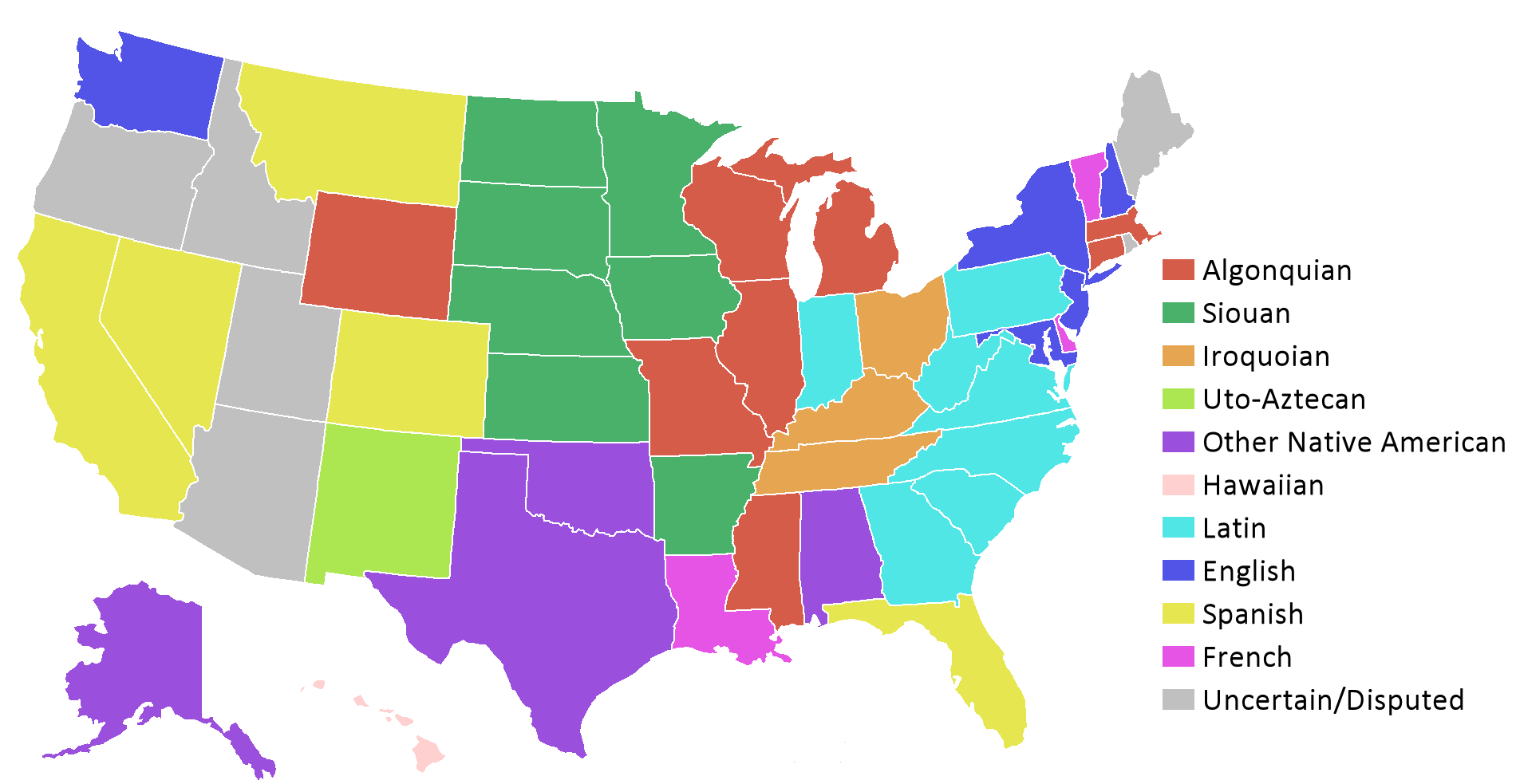 US State Wikipedia The Free Encyclopedia MAPS Pinterest - United states map in french
