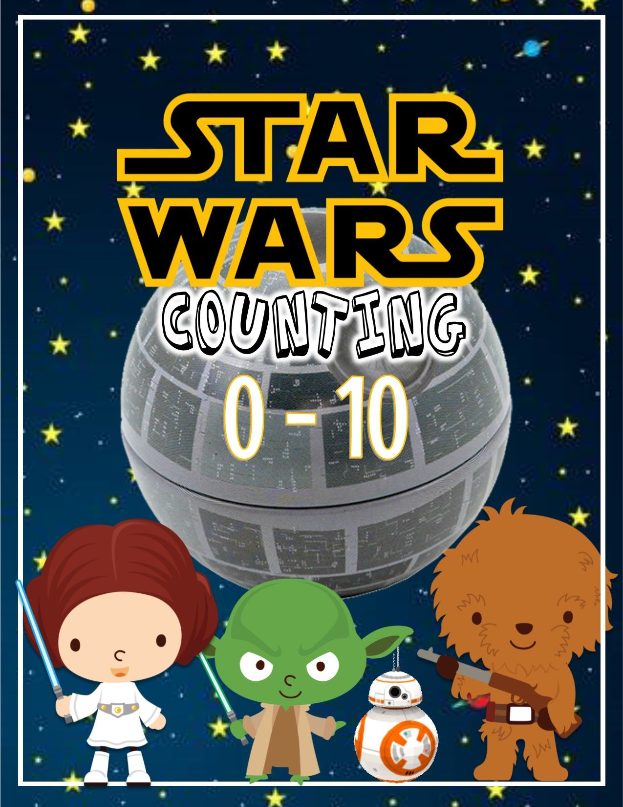 Prek Kinder Starwars 0 10 Worksheets