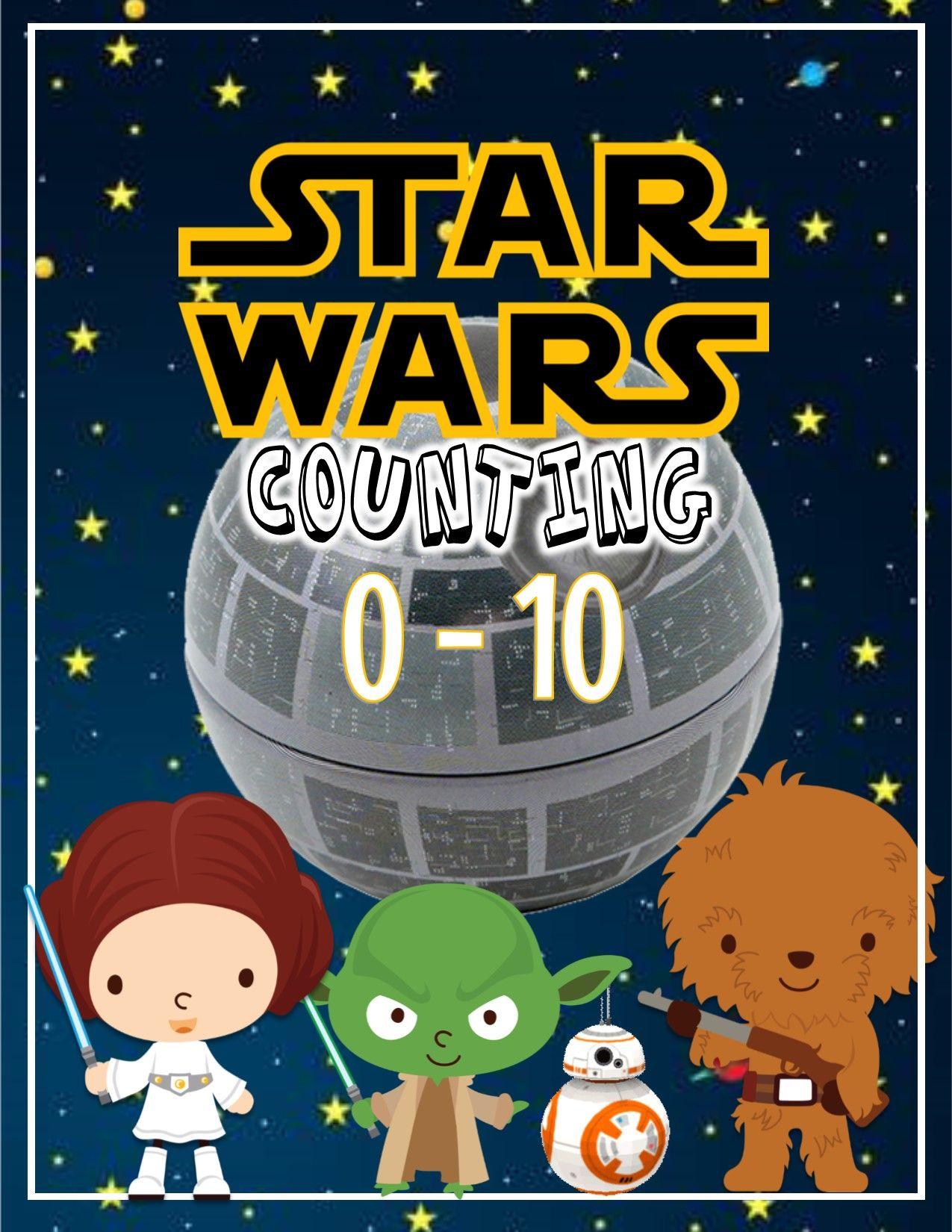 Prek Kinder Starwars 0 10 Worksheets