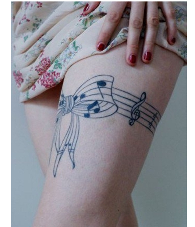 21 music tattoo ideas for women tattoos pinterest for Feminine music tattoos
