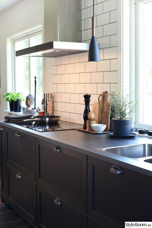 ikea kök,svart kök,ikea lerhyttan,lerhyttan,svarta kökluckor Bygga i 2019 Kök, Ikea och Kök ikea