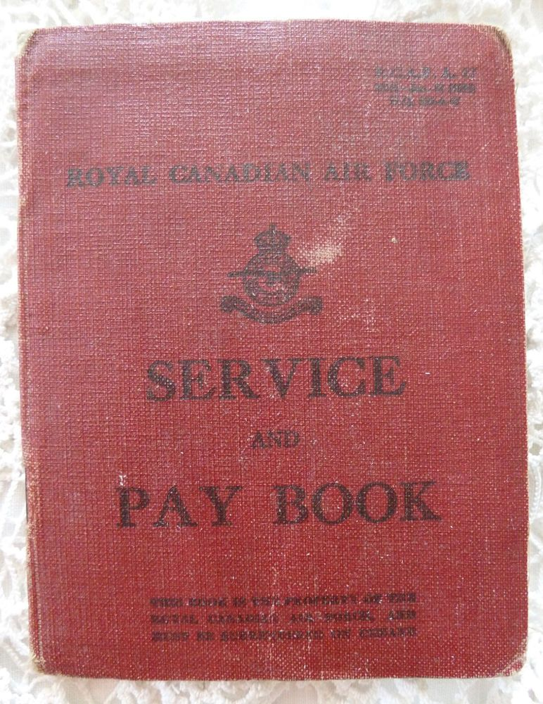 Details about RCAF Service and Pay Book 1942 45 WWII