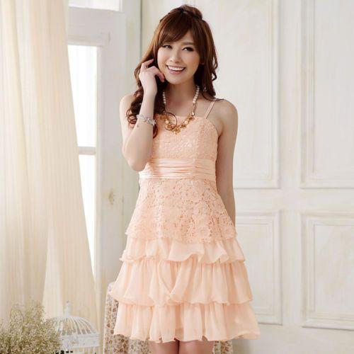 Party Semi Formal Prom Lace Girls Dress Sz 12 yr Tween Teens Lt ...