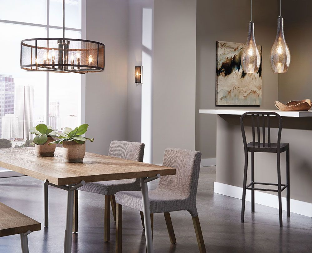 Now On Display In Our Greenville SC Showroom The Titus 8 Light Chandelier By Dining Room