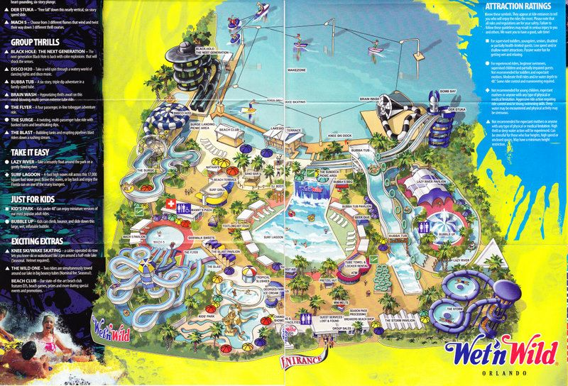 Map Of Wet N Wild Orlando wet n wild orlando map   Google Search | ORL | Orlando map, Wet n