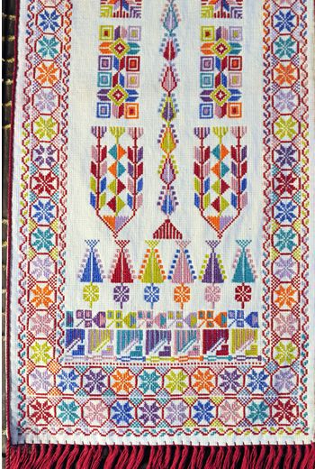 Making and sharing traditional needlework, stitching patterns belonging to villages that no longer exist, local Palestinian women artfully sustain heritage and community through the beauty that is t
