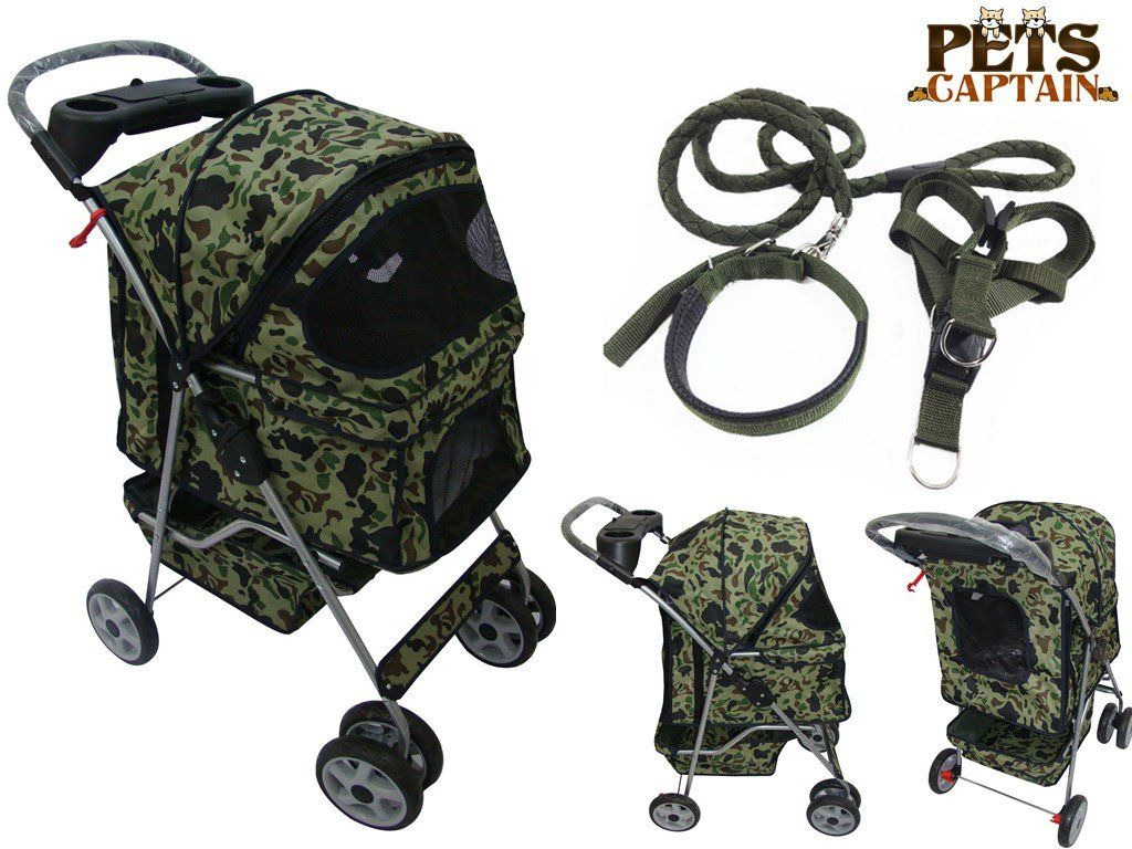 Premium Quality 4Wheel Pet Carrier Stroller For Cat and