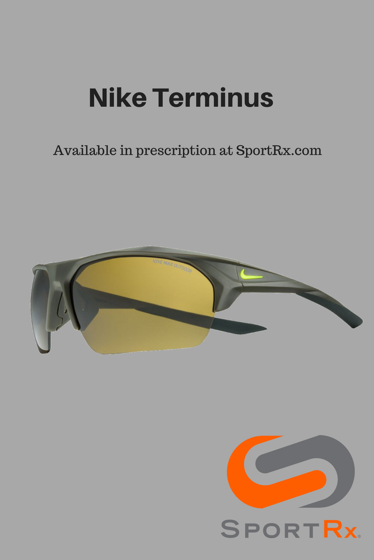 84a618e5c0d1 Shop the Nike Terminus baseball sunglasses. Available in prescription at  SportRx.