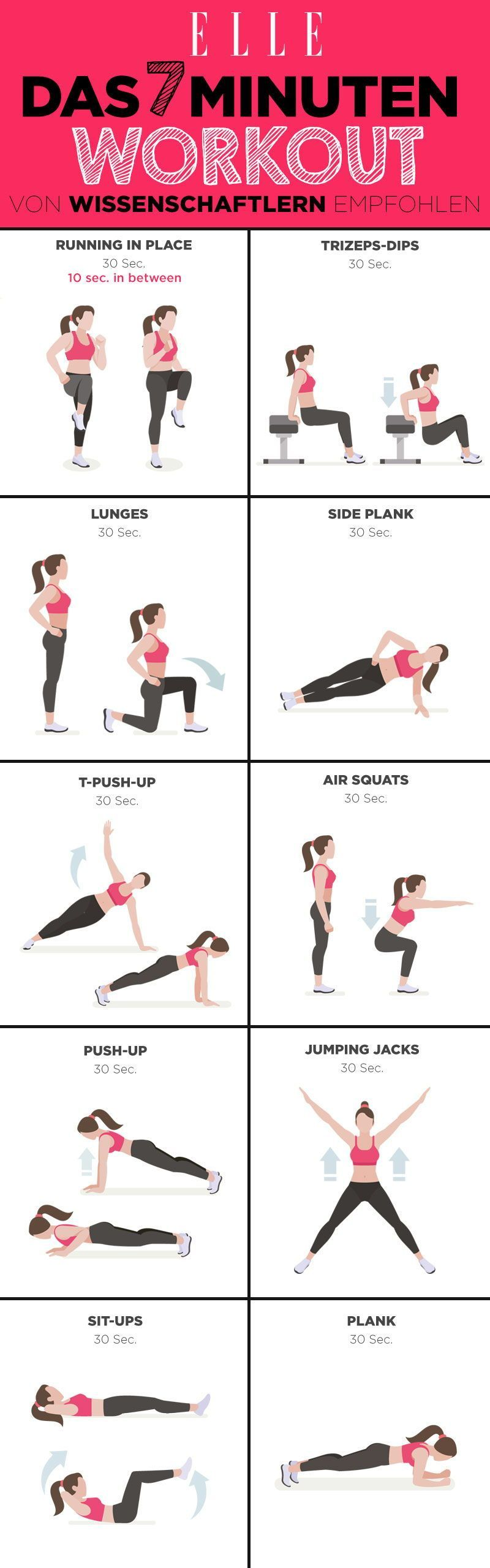 #7MinutenWorkout #Abnehmen #Dieses #empfehlen #Wissenschaftler Das 7 Minuten Ganzkörper-Workout, das...
